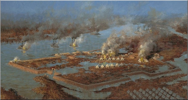 Battle of Fort Henry - A Painting by Andy Taylor